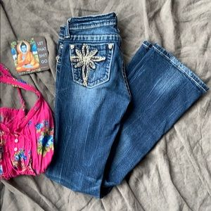 Miss Me Girls Jeans Size 14 JK5363B Boot